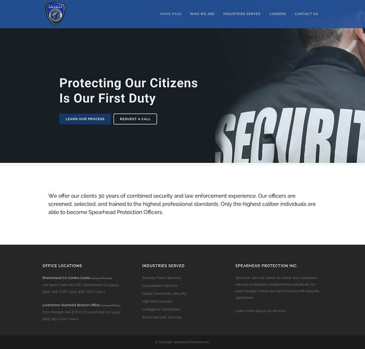 Spearhead Protection Inc.